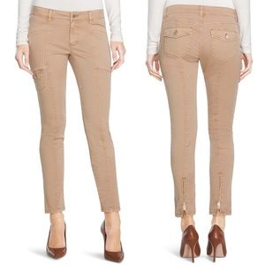 WHBM | 'The Skimmer' Skinny Zipper Khaki Pants